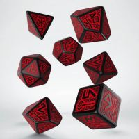 Q Workshop Dwarven White & Black 7 Dice Polyset