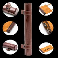 TDSO Brown Faux Leather Dice Roll and Playmat