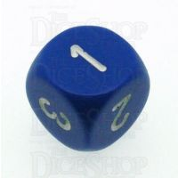 Chessex Opaque Blue & White D3 Dice