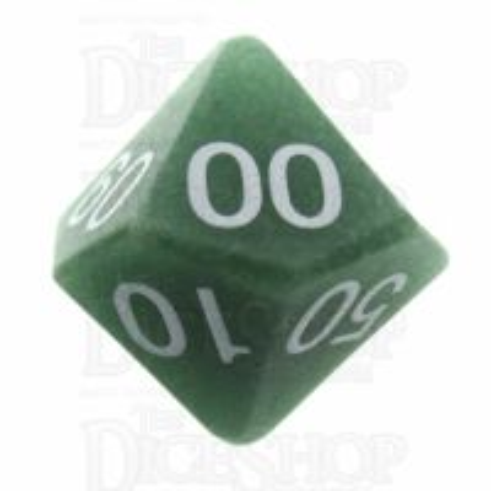 TDSO Aventurine Green 16mm Precious Gem Percentile Dice
