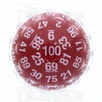 GameScience Red & White D100 Dice - NEW 2017 PRODUCTION