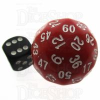 Tessellations Opaque Red & White Deltoidal 35mm D60 Dice