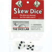 Tessellations Opaque White Skew 2 x D6 Spot Dice