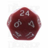 Tessellations Opaque Red & White Deltoidal D24 Dice