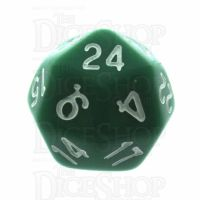 Tessellations Opaque Green & White Deltoidal D24 Dice