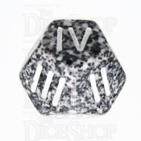 Chessex Speckled Granite Roman Numeral D4 Dice - Numbered 1-4 x 3
