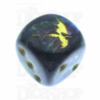 Chessex Lustrous Shadow TheDiceShop Dragon D6 Spot Dice