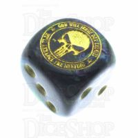 Chessex Lustrous Shadow Navy Seal God will Judge our Enemies We'll Arrange the Meeting D6 Spot Dice