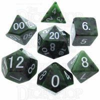 TDSO Ruby in Zoisite 16mm Precious Gem 7 Dice Polyset