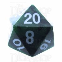 TDSO Ruby in Zoisite 16mm Precious Gem D20 Dice