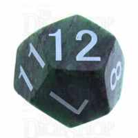 TDSO Ruby in Zoisite 16mm Precious Gem D12 Dice