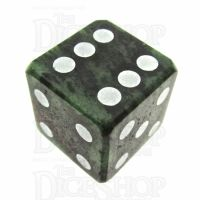 TDSO Ruby in Zoisite 16mm Precious Gem D6 Spot Dice