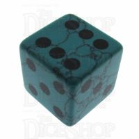 TDSO Turquoise Green Synthetic 16mm Precious Gem D6 Spot Dice