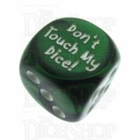 Chessex Gemini Green Don't Touch My Dice! Logo D6 Spot Dice
