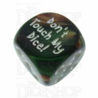 Chessex Gemini Copper & Green Don't Touch My Dice! Logo D6 Spot Dice