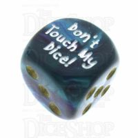 Chessex Gemini Purple & Teal Don't Touch My Dice! Logo D6 Spot Dice