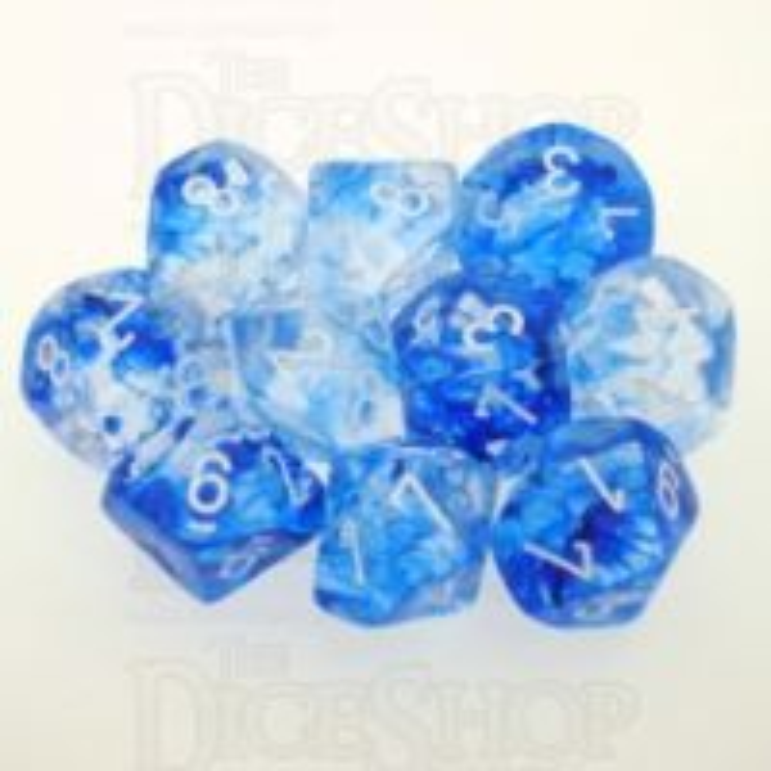 Chessex Nebula Dark Blue 10 x D10 Dice Set