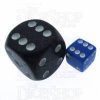 Koplow Opaque Blue & White Square Cornered 8mm D6 Spot Dice