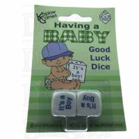 Koplow Having a Baby Boy Good Luck 2 x D6 Dice Game