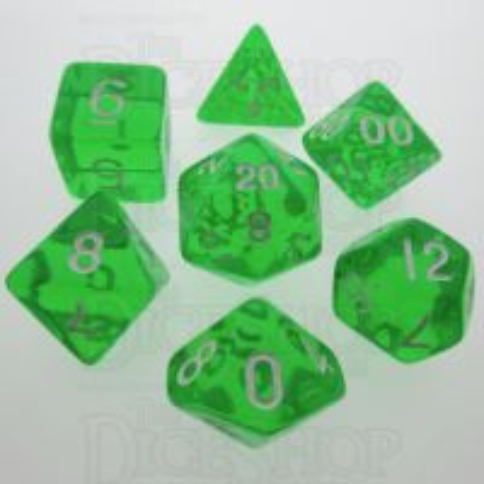 TDSO Bright Gem Emerald 7 Dice Polyset