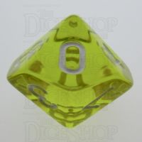 TDSO Bright Gem Citrine D10 Dice