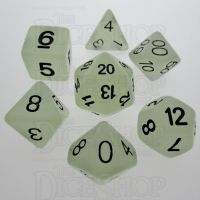 TDSO Frost White Glow in the Dark 7 Dice Polyset