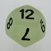 TDSO Frost White Glow in the Dark D12 Dice
