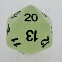 TDSO Frost White Glow in the Dark D20 Dice