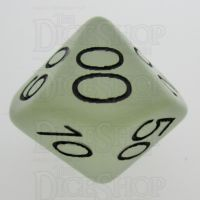 TDSO Frost White Glow in the Dark Percentile Dice