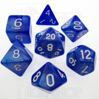 TDSO Pearl Blue & White 7 Dice Polyset
