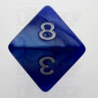 TDSO Pearl Blue & White D8 Dice