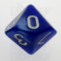 TDSO Pearl Blue & White D10 Dice