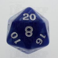 TDSO Pearl Blue & White D20 Dice
