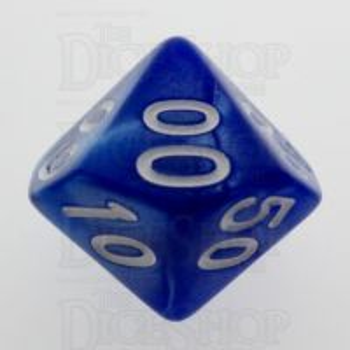 TDSO Pearl Blue & White Percentile Dice