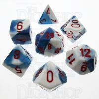 Chessex Gemini Astral Blue & White 7 Dice Polyset