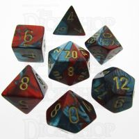 Chessex Gemini Red & Teal 7 Dice Polyset