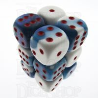 Chessex Gemini Astral Blue & White 12 x D6 Dice Set