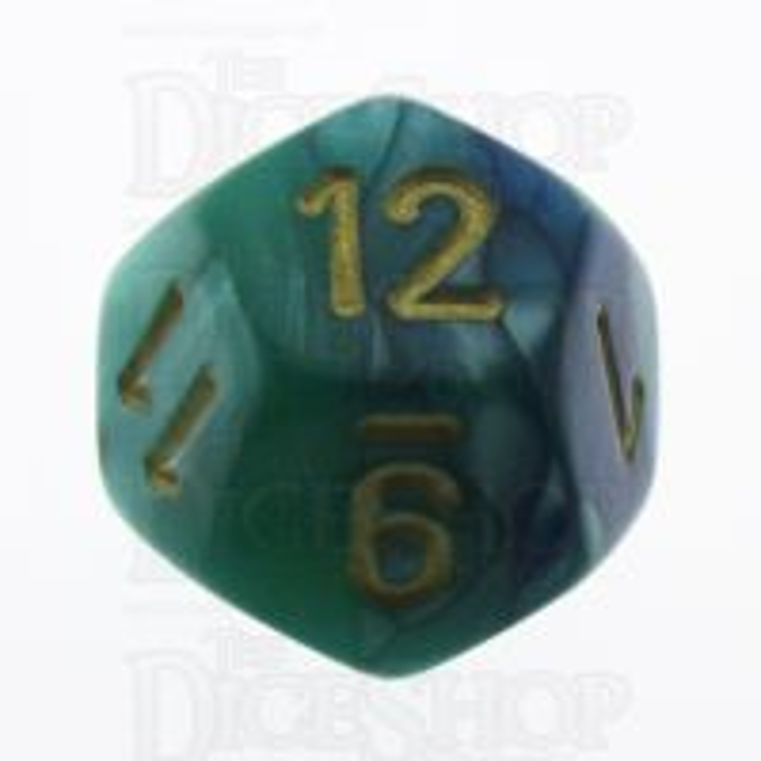 Chessex Gemini Blue & Teal D12 Dice