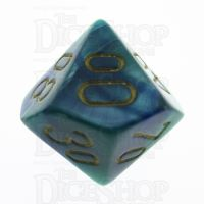 Chessex Gemini Blue & Teal Percentile Dice