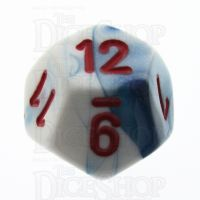 Chessex Gemini Astral Blue & White D12 Dice