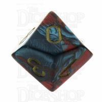 Chessex Gemini Red & Teal D10 Dice