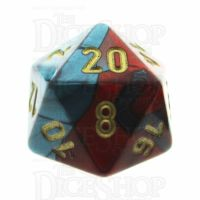 Chessex Gemini Red & Teal D20 Dice