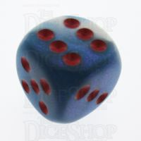Chessex Gemini Astral Blue & White 16mm D6 Spot Dice