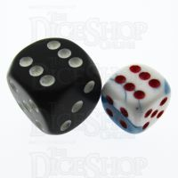 Chessex Gemini Astral Blue & White 12mm D6 Spot Dice