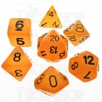 TDSO Frost Fire Glow in the Dark 7 Dice Polyset