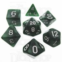 TDSO Pearl Green & White 7 Dice Polyset