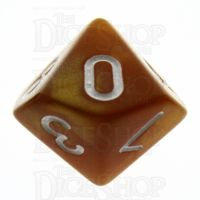 TDSO Pearl Golden & White D10 Dice