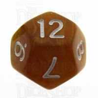 TDSO Pearl Golden & White D12 Dice