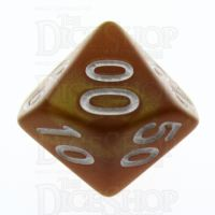 TDSO Pearl Golden & White Percentile Dice