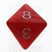 TDSO Pearl Red & White D8 Dice